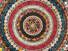 Junkculture: Found Object Mandalas Made from Game Pieces and Ephemera by John Gutoskey