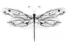 Скачать - Абстрактный дизайн стрекоза — стоковая иллюстрация