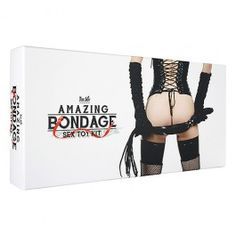 Who's been naughty? Teach your submissive a lesson or prepare to surrender with the Toy Joy Amazing Bondage Sex Toy Kit! Open this pleasure-chest of bondage equipment and watch your mind run wild with unspeakable ideas as you decide whether to use the wrist cuffs, whip, bondage rope, nipple clamps, faux leather mask, collar & lead, or ball gag! Use them separately or all at once for true exploration of lust and trust. Items come packaged in a sturdy, attractive box, surrounded by red rose…