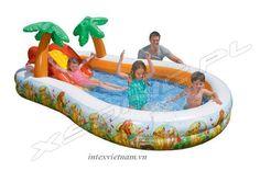 Bể bơi phao có cầu trượt INTEX 57131- Lion King