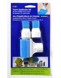 Plaid ® Art Materials - Bottle Tops - Roller/Brush    Size: Set of 3    Design Size: 2 Brush tops, 1 Roller top