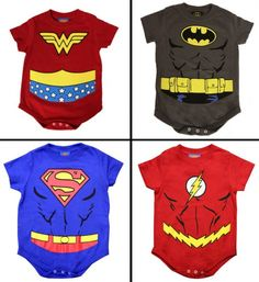 Superhero baby onesies - awesome! @Charlotte Jennings which one is yours gonna be :)