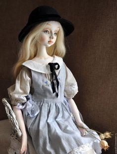 Коллекционные куклы ручной работы. Ярмарка Мастеров - ручная работа. Купить Коллекционная кукла Мишель. Handmade. Серый, фетр шерстяной