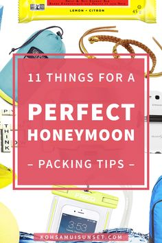 Things to Pack for Your Honeymoon: 11 Tips and Things to Pack for Your Honeymoon on the Beach. Click through to read more: http://www.kohsamuisunset.com/things-to-pack-honeymoon/