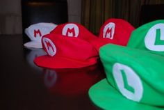 How to make mario & luigi caps - not the simplest tutorial I've come across, but great looking caps in the end!