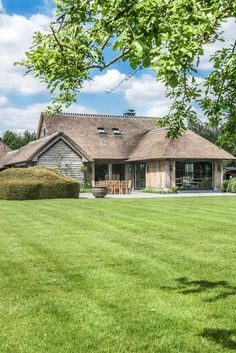 Modern thatched home!