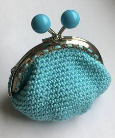 porte monnaie bleu turquoise fermoir à boules - Un grand marché