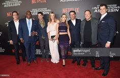 Actors Kim Coates, Leonard Earl Howze, Maurice Compte,Lauren Shaw, Zulay Henao, Andy Garcia, Kevin James and director Jeff Wadlow attend the 'True Memoirs Of An International Assassin' New York premiere at AMC Lincoln Square Theater on November 3, 2016 in New York City.
