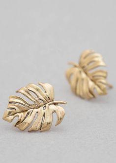 Handmade Monstera Leaf Earrings | CollectedEdition on Etsy