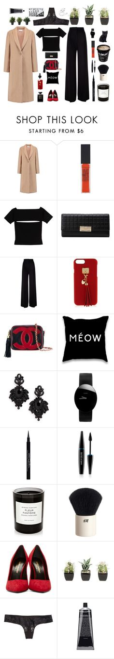 """Glam smart"" by solespejismo ❤ liked on Polyvore featuring T By Alexander Wang, Maybelline, MaxMara, Henri Bendel, Chanel, Tasha, Rado, Givenchy, MAKE UP FOR EVER and Byredo"