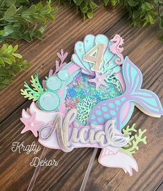 Mermaid Under The Sea, Under The Sea Party, Diy Paper, Paper Crafts, Cricut Cake, Mermaid Party Decorations, Mermaid Cakes, Housewarming Party, Shaker Cards