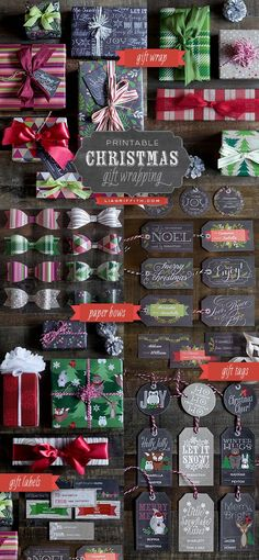 Christmas Gift Wrapping Roundup- click on the download links below the images in blue! download- save as!