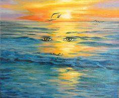 Marine Malerei : Meditation Ölgemälde auf Leinwand