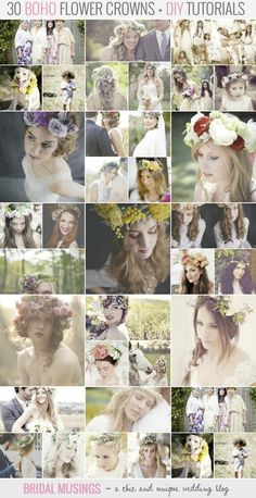 You've gotta love a bride with flowers in her hair!