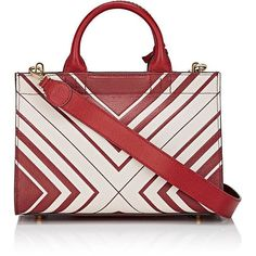 Anya Hindmarch Women's Ephson Mini-Satchel ($1,129) ❤ liked on Polyvore featuring bags, handbags, detachable key ring, handbag satchel, red purse, red satchel purse and mini satchel handbags