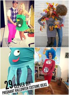Tons of DIY pregnant Halloween costume ideas