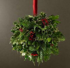 Christmas pomander holly