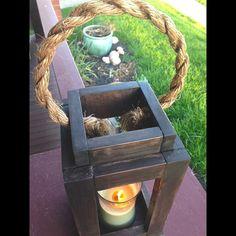 Rustic Wood Lantern Candle Holder. Bedroom by SycamoreStVintage
