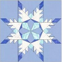 Snowflake Star Template 6 Inch Block by HumburgCreation - Craftsy Star Quilt Blocks, Star Quilt Patterns, Paper Piecing Patterns, Star Quilts, Pattern Blocks, Quilting Tutorials, Quilting Projects, Quilting Designs, Snowflake Quilt