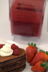 Red velvet pancake mix in the Blendtec with no red dye .... FYI The Blendtec ROCKS!!