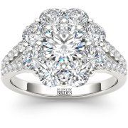 IN LOVE BY BRIDES 2-1/2 Carat T.W. Certified Flower Burst Diamond 14kt White Gold Engagement Ring