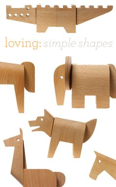 wooden animal puzzles from Areaware