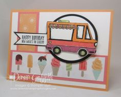 Ice Cream Truck Birthday card