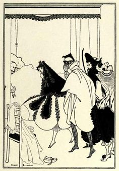 Death of Pierrot from The Yellow Book by Aubrey Beardsley