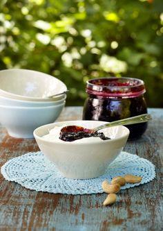 Acai Bowl, Panna Cotta, Dips, Berries, Pudding, Breakfast, Tableware, Sweet, Ethnic Recipes