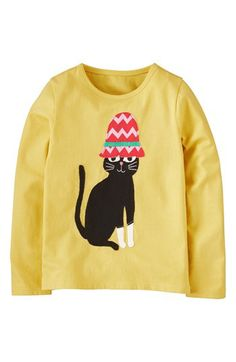 Mini Boden Animal Appliqué Long Sleeve Tee (Toddler Girls, Little Girls & Big Girls) available at #Nordstrom