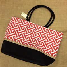Ready To Go Tote- Red/Black MUDPIE