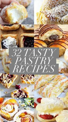 32 Tasty Pastry Recipes – Captain Decor Best Picture For Desserts For Your Taste You are looking for something, and Puff Pastry Desserts, Tasty Pastry, Puff Pastry Recipes, Pastries Recipes, Pastry Dough Recipe, Bakery Recipes, Italian Pastries, Sweet Pastries, French Pastries