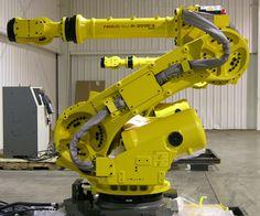 Six-axis industrial robot arm: Industrial Robotic Arm, Industrial Robots, Industrial Machine, Modern Industrial, Robot Technology, Technology Design, Drones, Fanuc Robotics, Robotic Automation