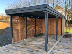 Privacy Fence Designs, Carport Designs, Garage Design, Yard Design, Carport Plans, Carport Garage, Pergola Carport, Enclosed Carport, Enclosed Patio