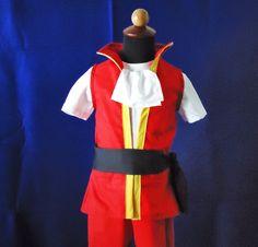 Captain Hook Top or Top&Shorts - Hook Costume - Neerland Costume - Peter Pan 12M to 7Years