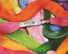 DMC Floche a Broder - Size 16 cotton thread - Full Skein - Colors 208 -738