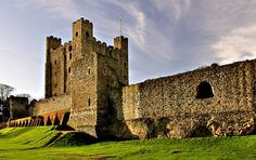 Rochester Castle, Kent, England    http://www.dailymail.co.uk/travel/holidaytypeshub/article-615221/Great-Expectations-Dickens-Kent.html