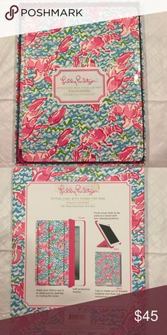 Lilly Pulitzer Fitted IPad Case with Stand Brand new, still in package. Popular Lobstah Roll Print. iPad case with stand. Great protection for your iPad! Lilly Pulitzer Accessories Tablet Cases