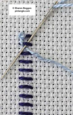 Knotted buttonhole band step5