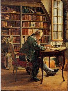 """Jean Louis Ernest Meissonier 1862 """"Bibliophile"""""""