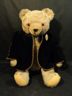 "Wonderful Antique 19"" Light Beige Mohair Jointed German Teddy Bear w Growler"