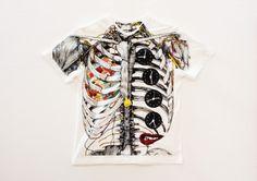 Wataru Yoshida Anatomical T-shirts   who killed bambi?
