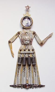 Dream as if you will live forever, Art Doll by Tina Walker