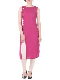 Check out what I found on the LimeRoad Shopping App! You'll love the pink cotton high slit kurta. See it here http://www.limeroad.com/products/13160789?utm_source=6fca2d6f08&utm_medium=android