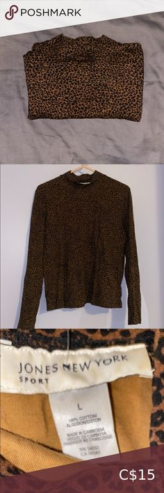Jones New York Turtleneck Jones NY Small Turtleneck. Size L but looks like it would fit M better. Tag is stained but in perfect condition Jones New York Tops Tees - Long Sleeve Wrap Sweater, Men Sweater, White Long Sleeve, Long Sleeve Tees, Champion Shirt, Leopard Print Top, Peasant Tops, V Neck Tops, White Tops