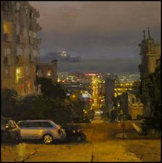 jeremy mann artist | Top to bottom: Nocturne #13; Union Square In Yellow; Evening Over San ...