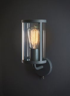 Wall lights can transform the look and feel of a room, creating unique lighting opportunities. Browse modern, vintage and art-deco indoor wall lights here. Charcoal Walls, Black Walls, Indoor Wall Lights, Ceiling Lights, Porch Wall Lights, Wall Sconce Lighting, Wall Sconces, House Lighting, Bathroom Lighting