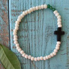 Cross & Bone Bracelet by Love is a Seed by LoveisaSeed on Etsy, $10.00