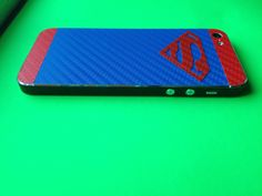 Superman iPhone carbon fiber decal by UMODTECH.