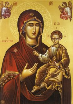Mary and Jesus Religious Icons, Religious Art, Luke The Evangelist, Religious Paintings, Blessed Mother Mary, Byzantine Icons, Madonna And Child, Catholic Art, Orthodox Icons